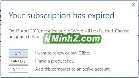 Gia hạn dùng thử Office lên 180 ngày