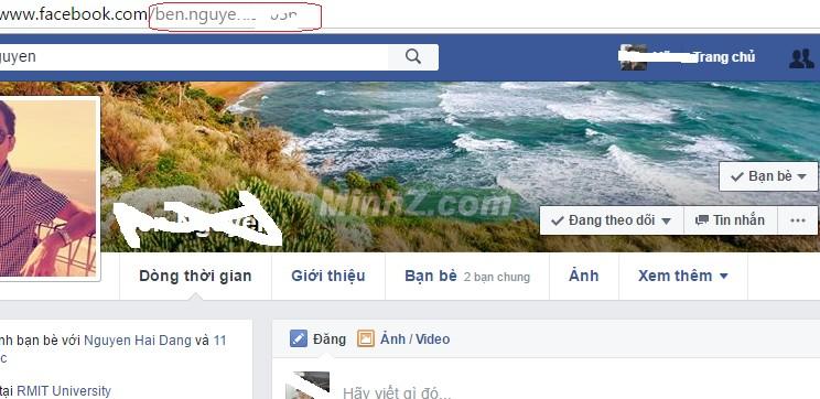 tìm username facebook dựa trên profile cá nhân